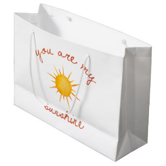 You Are My Sunshine Quote Art Large Gift Bag