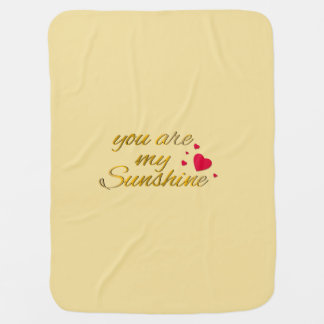 You Are My Sunshine Quote | Gold Yellow Nursery Baby Blanket