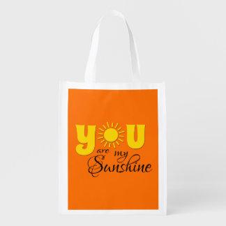 You are my sunshine reusable grocery bag
