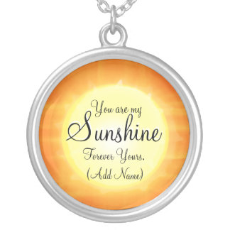 You are my Sunshine Silver Plated Necklace