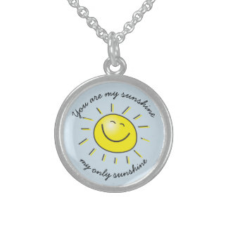 You are My Sunshine Smiling Sun Necklace