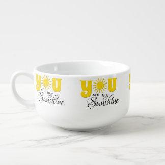 You are my sunshine soup mug