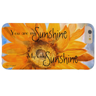 You are My Sunshine Sunflower Art  iPhone Case