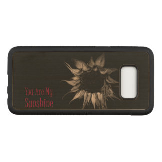 You Are My Sunshine Sunflower Cute Unique Cool Carved Samsung Galaxy S8 Case