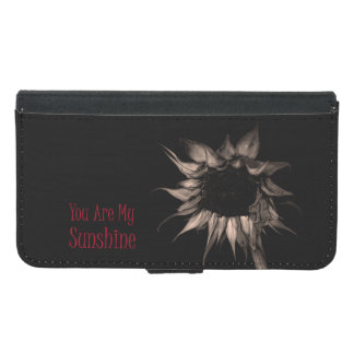 You Are My Sunshine Sunflower Cute Unique Cool Samsung Galaxy S5 Wallet Case