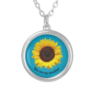 You are my sunshine! Sunflower necklace
