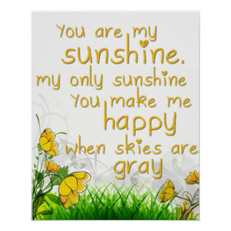 """You Are My Sunshine"" Wall Art"