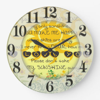 You are My Sunshine with Flowers in Yellow Clocks