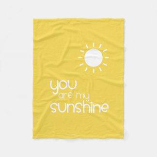 You Are My Sunshine Yellow Fleece Blanket