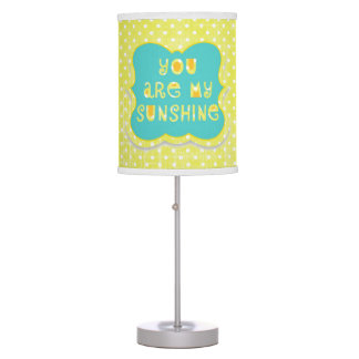 You are My Sunshine Yellow Polkadots Lamp