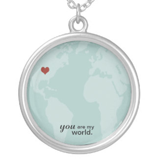YOU are my world Silver Plated Necklace