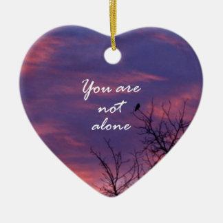 You Are Not Alone Ceramic Ornament