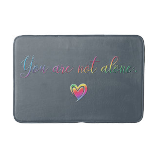 You Are Not Alone/Safety Pin Bath Mat