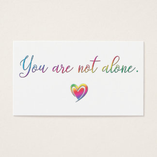 You Are Not Alone/Safety Pin Business Card