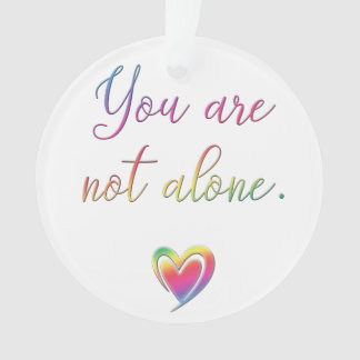 You Are Not Alone/Safety Pin Ornament