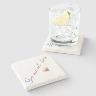 You Are Not Alone/Safety Pin Stone Coaster