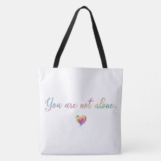 You Are Not Alone/Safety Pin Tote Bag