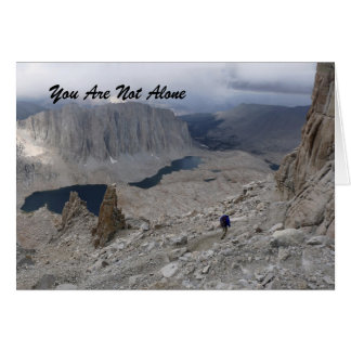 You Are Not Alone, Sympathy Card, Solitary Hiker Card