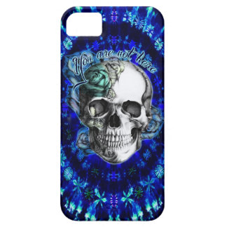 You are not here trippy rose skull in navy/ mint iPhone 5 cover
