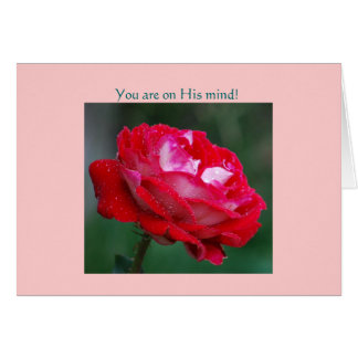 You are on His mind! Card