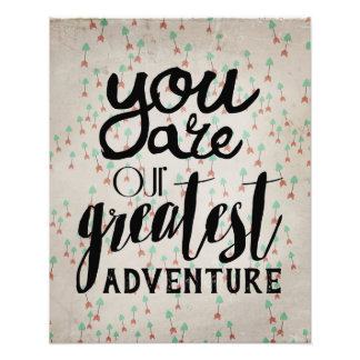 You Are Our Greatest Adventure Nursery Art Photo Print
