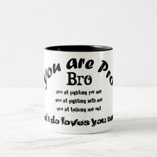 you are pro bro black tea cup coffee mug