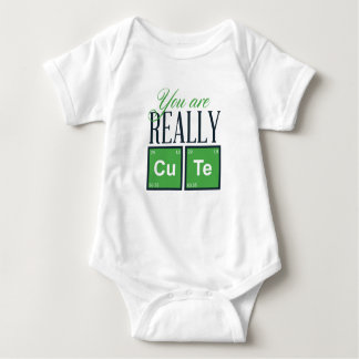 you are really cute, cool design baby bodysuit