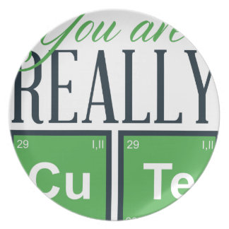 you are really cute, cool design plate