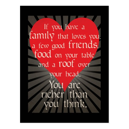 You are richer than you think - Wisdom Postcard