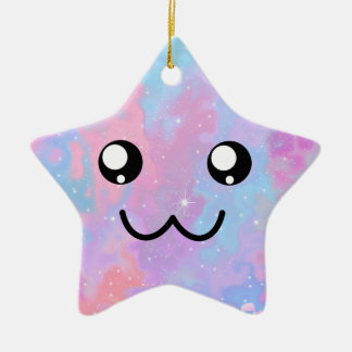 You are so Kawaii Pastel Magical Cute Face Ceramic Ornament