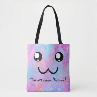 You are so Kawaii Pastel Magical Cute Face Tote Bag
