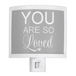 You Are So Loved Gray Nursery Night Lites