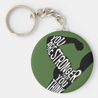 You Are Stronger Than You Think Basic Round Button Keychain