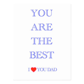"""You are the best DAD"" Postcard"