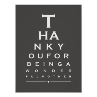 You are the best mom in the world eye chart prints