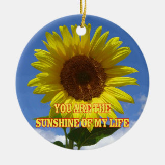 You are the Sunshine of My Life Round Ceramic Ornament
