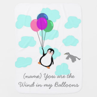 You are the wind in my Balloons Baby Blanket