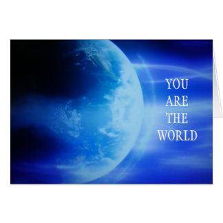 """YOU ARE THE WORLD TO ME"" BIRTHDAY CARD"