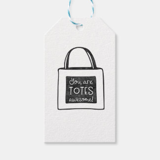 You are totes awesome stamped design gift tags