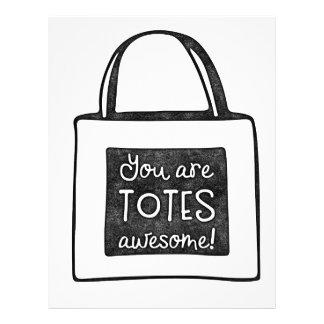 You are totes awesome stamped design letterhead