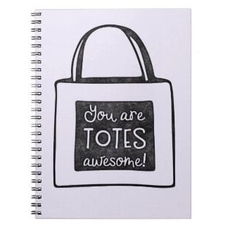 You are totes awesome stamped design notebook