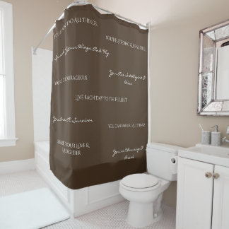 You Are Uplifting Shower Curtain-Chocolate