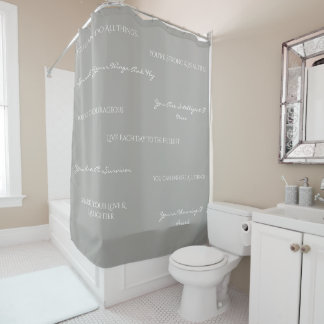 You Are Uplifting Shower Curtain-Grey