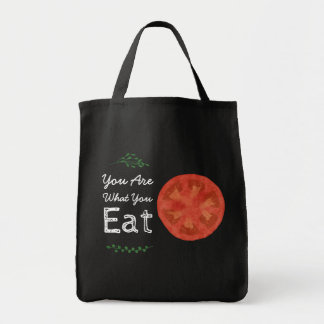 You Are What You Eat Tomato and Leaves Tote Bag
