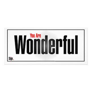 You are wonderful rack card