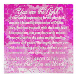 You are Worthy inspirational message from Divine Poster