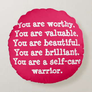 You Are Worthy Positive Affirmation Pillow