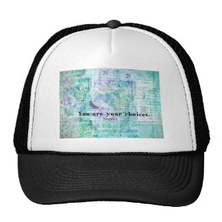 You are your choices SENECA QUOTE Mesh Hats