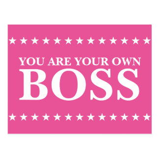 You Are Your Own Boss (Customizable text & color) Postcard