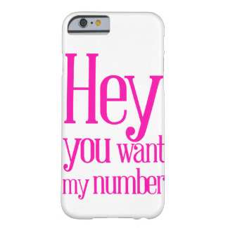 You because my number barely there iPhone 6 case